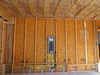 Breaker panel in garage before drywall. 4/27/15