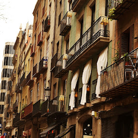 Barca Streets  by Ewan Allardice - City,  Street & Park  Neighborhoods ( buildings, streets, barcelona, spain, gothic quarter )