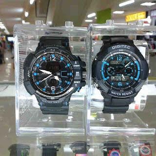 jam tangan Digitec dual time Original ( Digital + Analog)