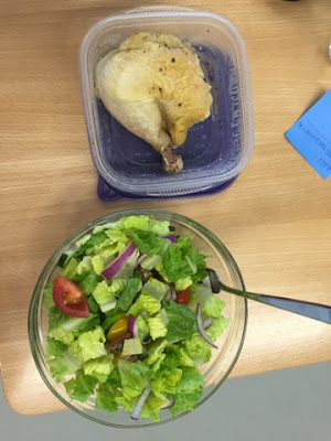 salad and chicken whole30