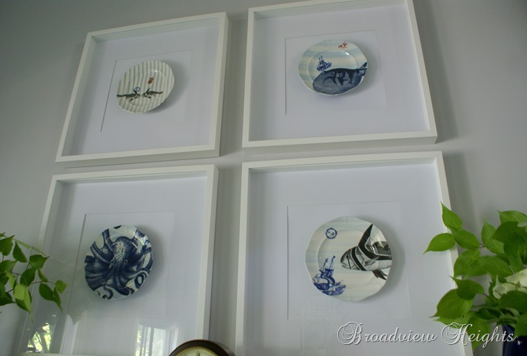 Framed plates www.broadviewheights.blogspot.com
