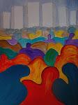 Emigration - Acryl auf Keilrahmen, 70x50 cm