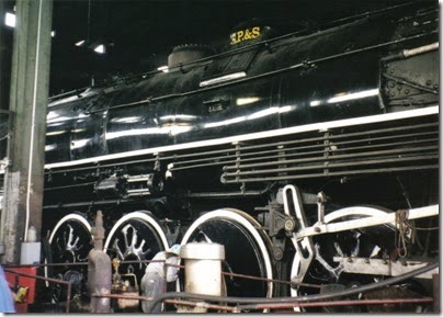 10 Spokane, Portland & Seattle A-1 Class 4-8-4 #700 at the Brooklyn Roundhouse in Portland, Oregon on August 25, 2002