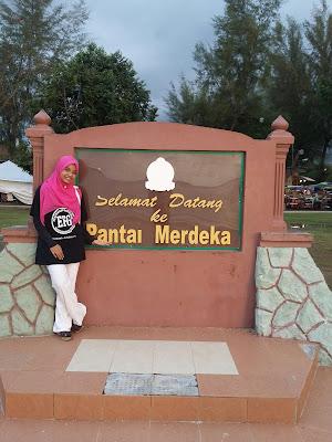 EFG di Pantai Merdeka, anak buah, sepupu tersayang, http://kanvaskehidupanku.blogspot.com/, adkdayah, asal usul pantai merdeka, asal usul kedah,