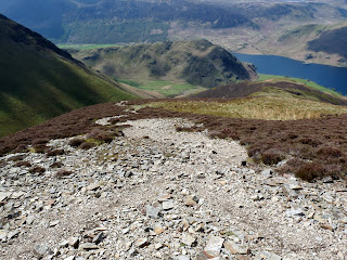 Another view steeply downwards to Rannerdale