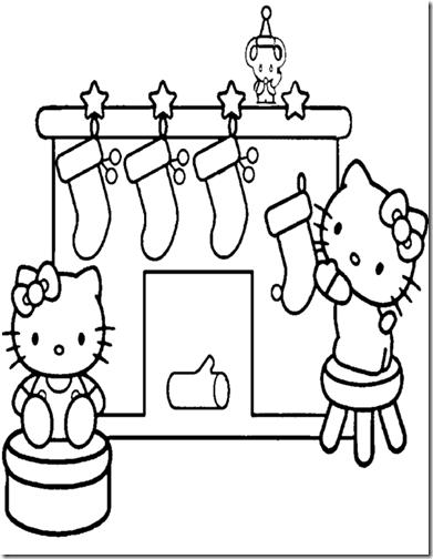 colorear hello kitty  navidad (2)