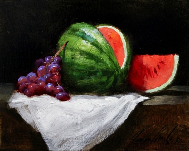 Watermelon and Grapes
