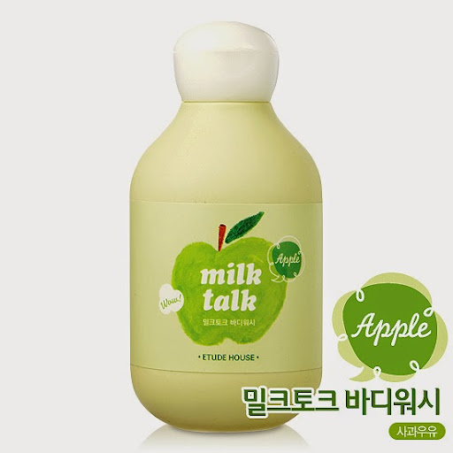 Pengharum Tubuh Etude House Body Wash Milk Talk Appel : MEH-25