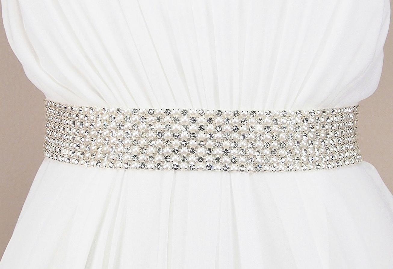 Bridal Sash, Crystal Sash,