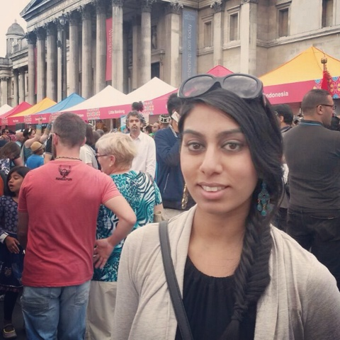 The stall at the Eid festival in Trafalgar Square