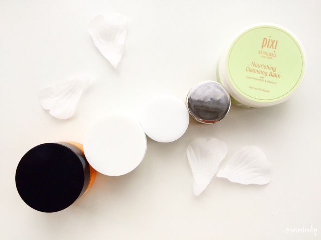 flatlay cleansing balm reviews and collection