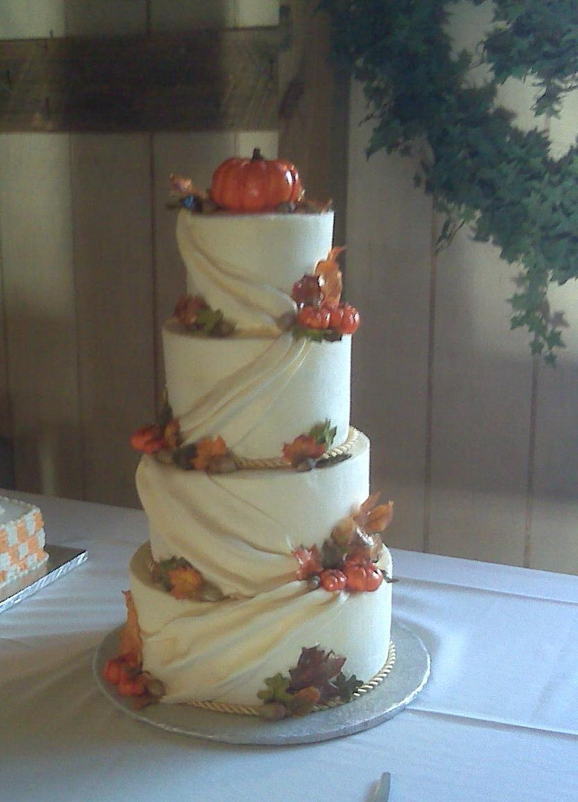 Fall Wedding Cake by  ohnoono