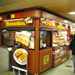 manneken belgium waffles kiosk at osaka station in Osaka, Osaka, Japan