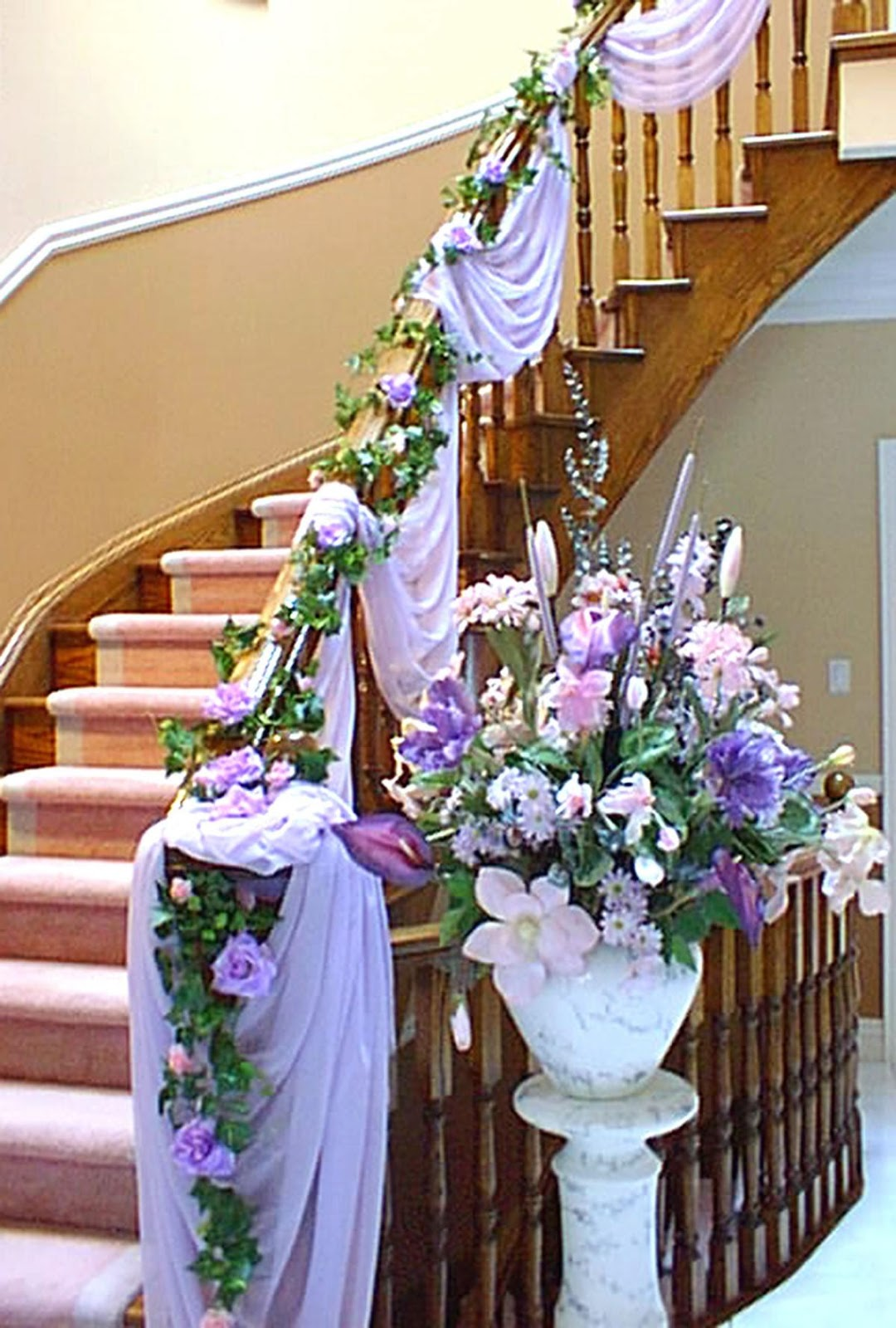 Wedding decoration ideas stairs staircase decoration for festival wedding decoration ideas stairs maeghan s cheap wedding decoration ideas junglespirit Images
