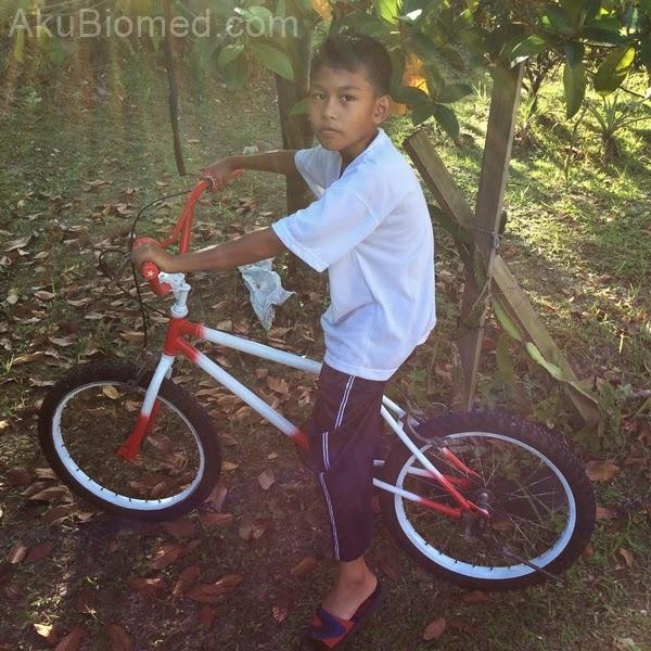 abang ngah dengan basikal bmx telah restore