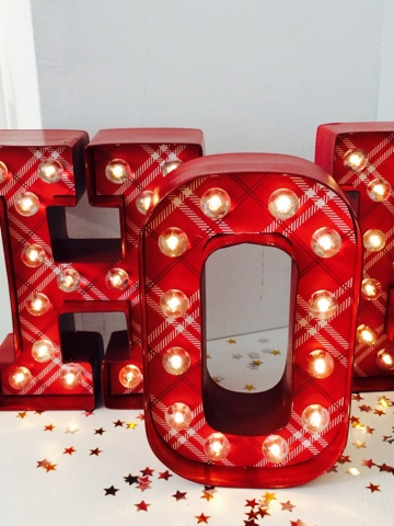 Decorate your own marquee letters