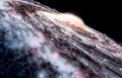 estrutura escondida da Via Láctea