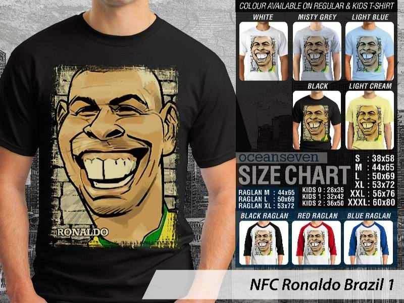 KAOS Ronaldo Brazil Kartun Bola distro ocean seven
