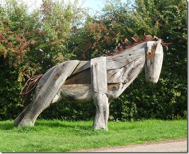 1 wooden horse at Natwich