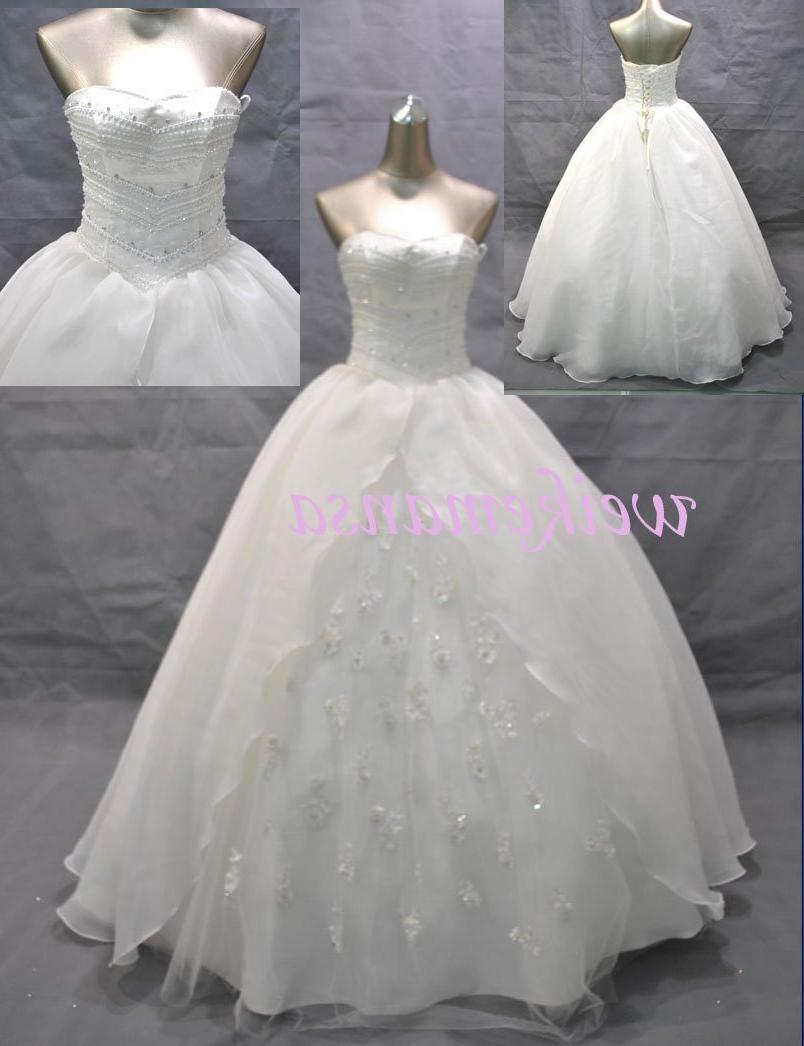 See larger image: Real work fashion ball gown wedding dresses A-1034
