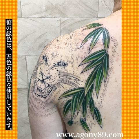 刺青除去しないでタトゥーを消す方法、カバーアップ、タトゥーデザイン 画像、ライオン、笹、英文字、イニシャル、女性、ガールズタトゥー、刺青デザイン画像集、タトゥーデザイン 画像集。
