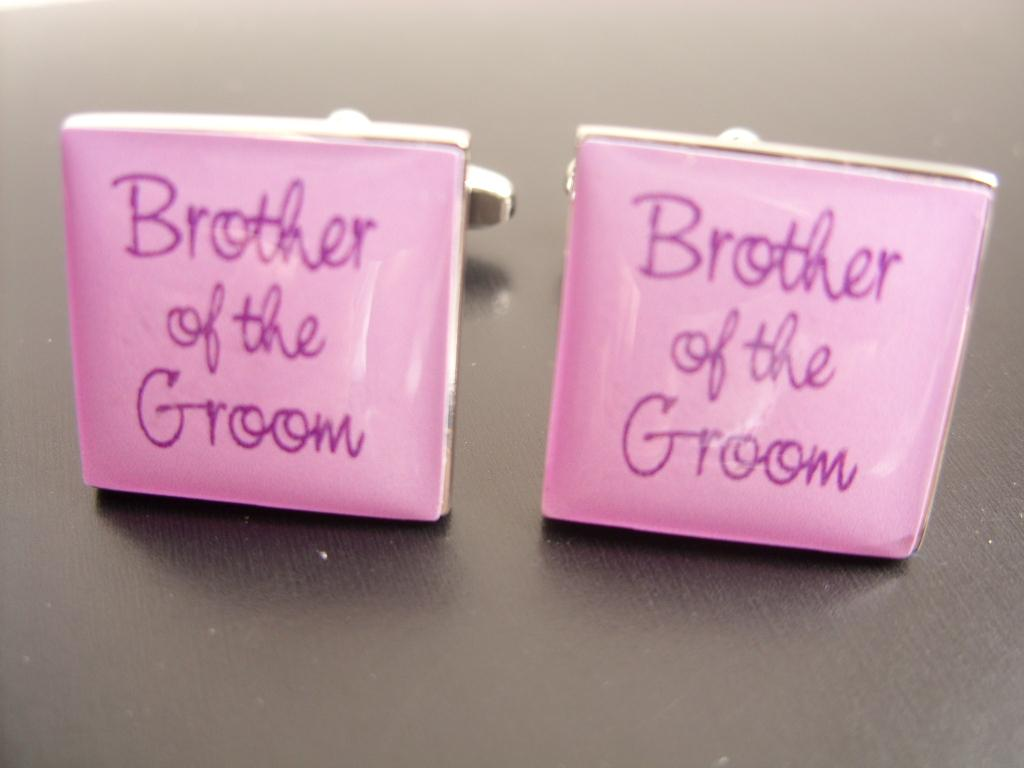 Brother of the Groom Lilac Wedding Cufflinks