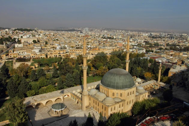 Bird's eye view of Urfa city