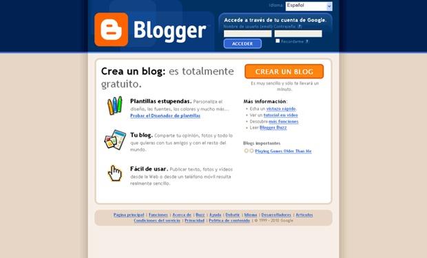 Abrir mi cuenta Blogger