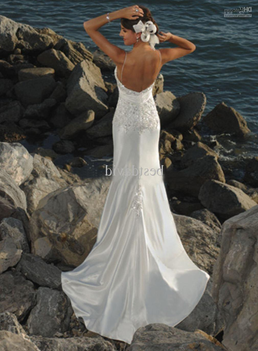 Pearls dress sheath Beach Wedding Dresses SD5204