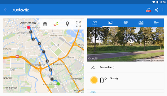 Runtastic Laufen & Fitness App Screenshot
