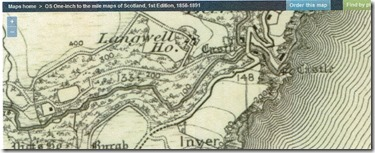 Map Langwell House Inver B