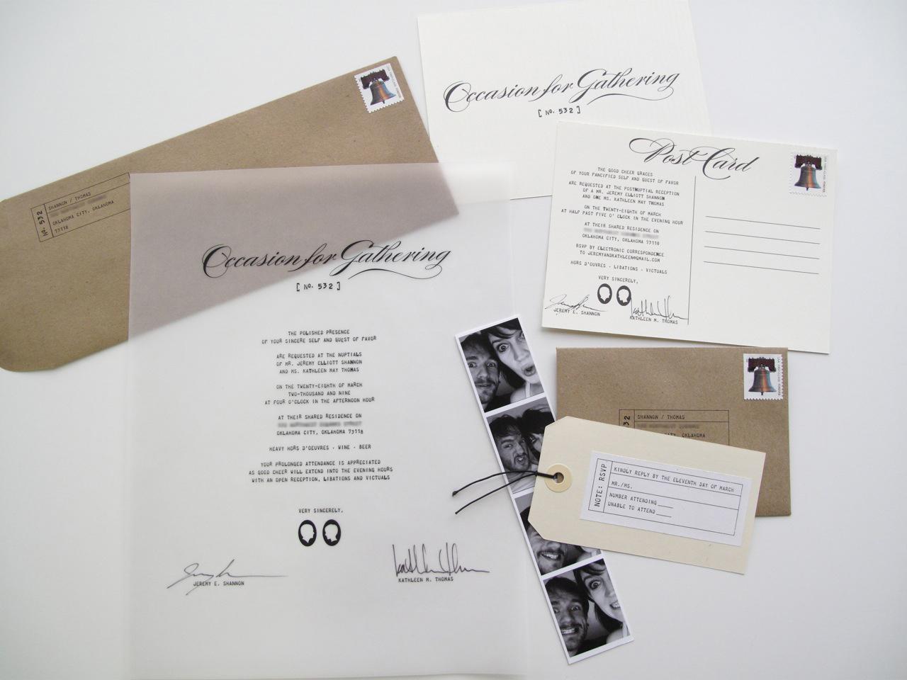 original wedding invites