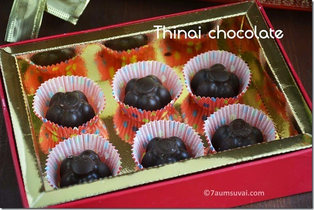 Thinai chocolate