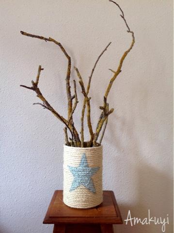 Árbol-Navidad-lata-reciclaje-ramas-chalk-paint