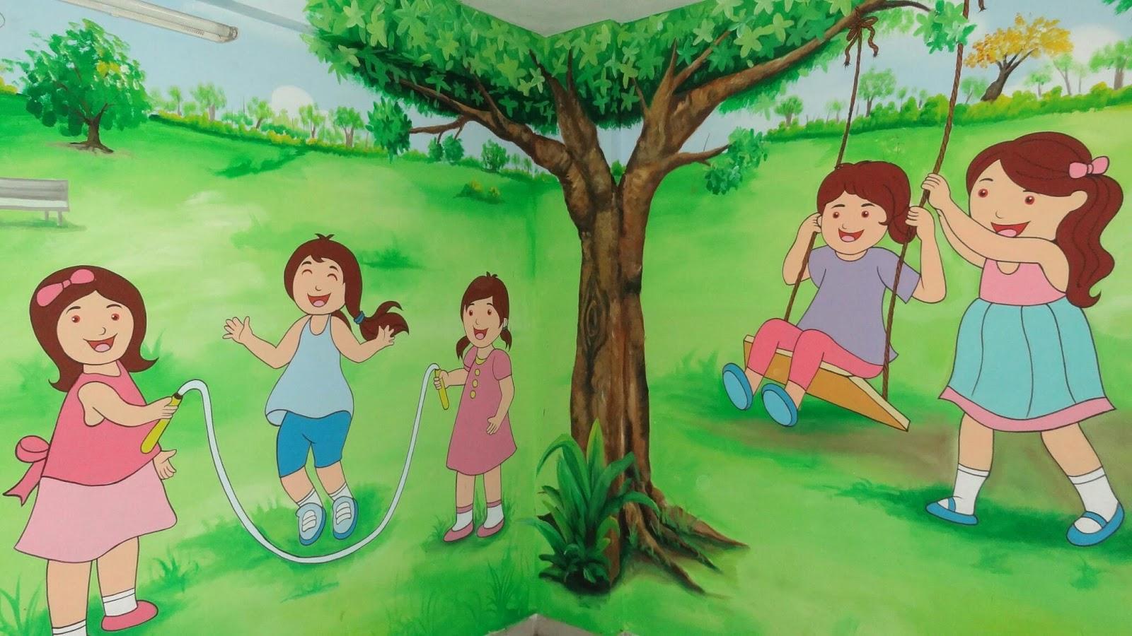 play school cartoon painting all over India Play School