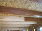 Feb. 14 - First beams stained, master bedroom