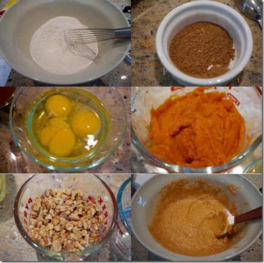 Pumpkin bread ingriedients compo