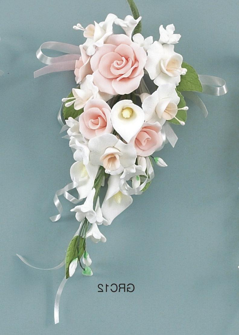 red calla lilies wedding cake