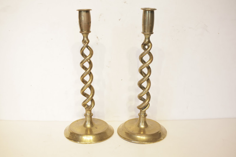 Brass Taper Holder Pair
