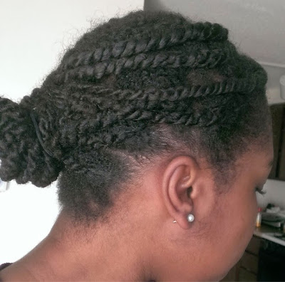 Two-strand twists using flax seed gel