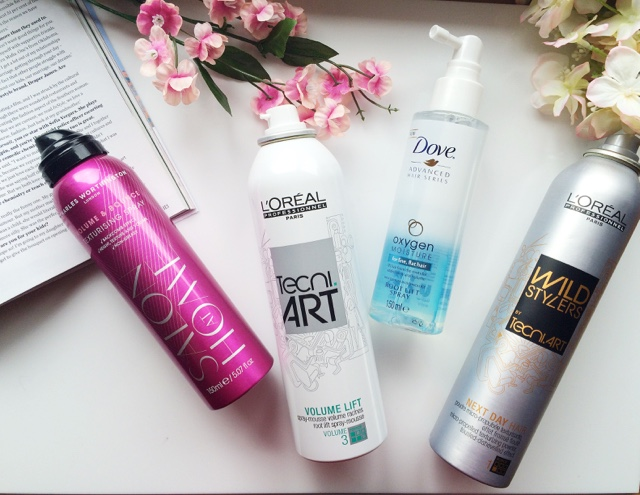 styling products for a lob, how to style a lob, styling products for a long bob, L'oreal Tecni Art, Charles Worthington texturising spray, Dove root lift spray, Dove oxygen and moisture