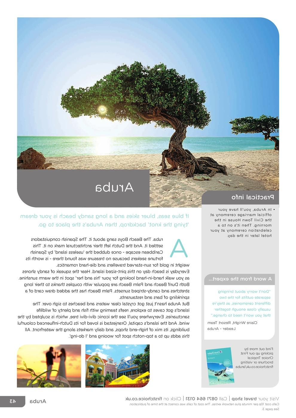 Aruba - Mexico & Caribbean - First Choice Weddings and Renewal of Vows