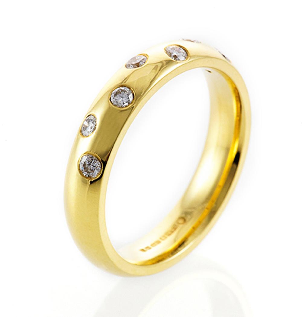 Gold Diamond Wedding Band