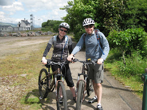 our coast-to-coast bike trip across scotland starts at fort williams.  we have about six days and 200 miles of dirt trails in front of us.  fort williams should be an easy day.  we start around 4pm and just need to bike fifteen miles to our first bed and breakfast in speanbridge.