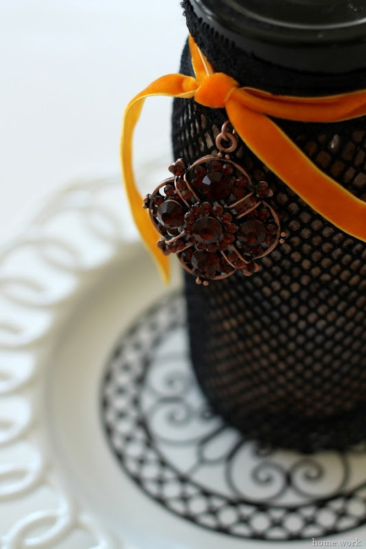 The Easiest Halloween Treat Jar via homework -carolynshomework (2)
