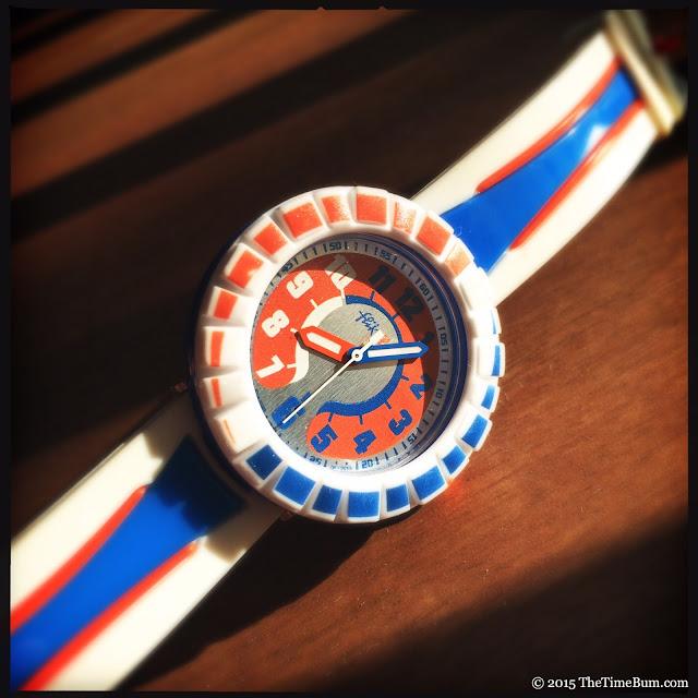 Swatch Flik Flak All Around Orange & Blue