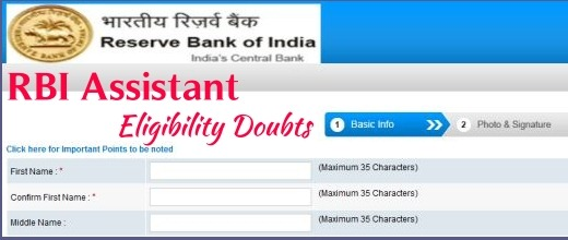 RBI assistant recruitment eligible doubts