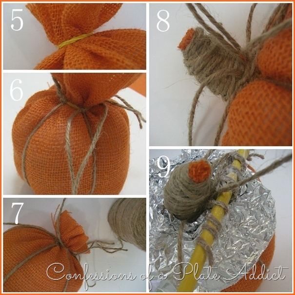CONFESSIONS OF A PLATE ADDICT Easy Burlap Pumpkins tutorial 2