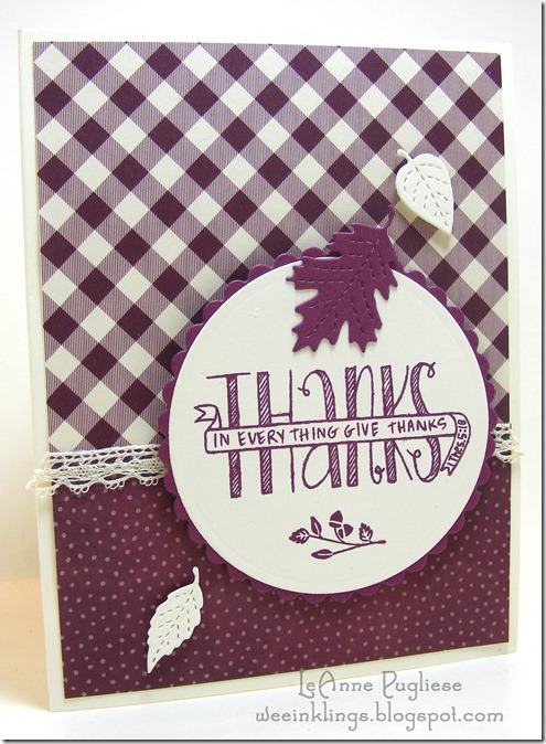 LeAnne Pugliese WeeInklings Banner Blessings Thankful Stampin Up