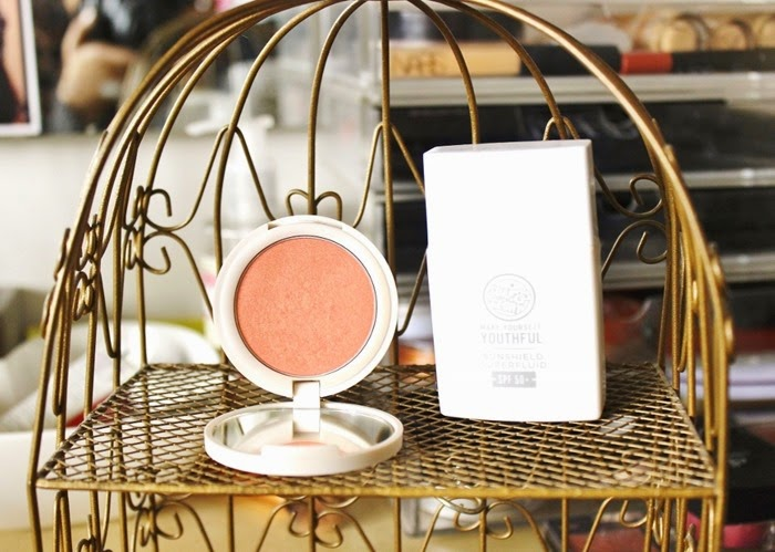 topshop blush in do it again soap and glory make yourself youthful sunshield superfluid spf 50+